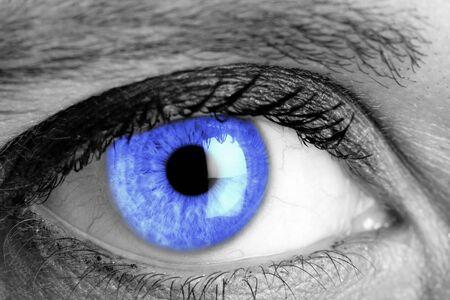 Ojo azul fotografía macro