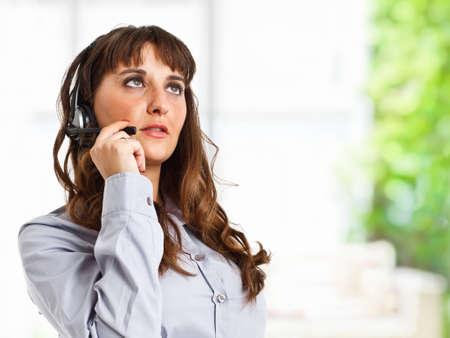 Portrait of a beautiful customer representative at work Stock Photo - 14663456