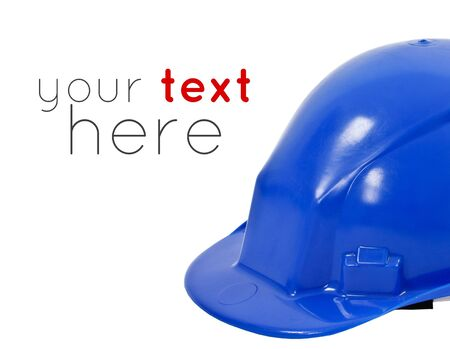 oil and gas industry: Helmet on a white background, representing engineering and construction  Sample text  Stock Photo