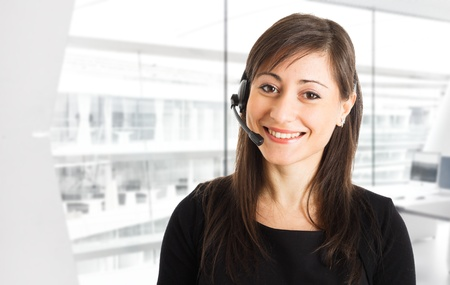 helpdesk: Portrait of a beautiful customer representative