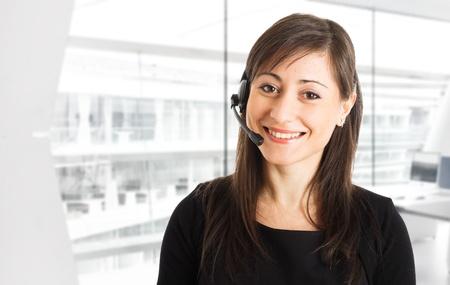 helpdesk: Portrait of a beautiful customer representative