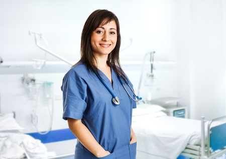 female nurse: Portrait of a beautiful smiling nurse