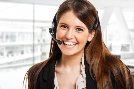 Portrait of a beautiful customer representative Stock Photo - 14663454