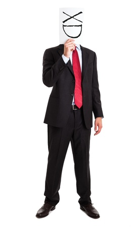 Funny portrait of an happy businessman photo