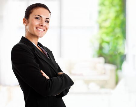 Portrait of a smiling businesswoman Stock Photo - 14748707