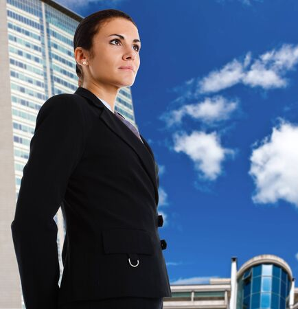 Portrait of a beautiful businesswoman looking at the future Stock Photo - 14748477