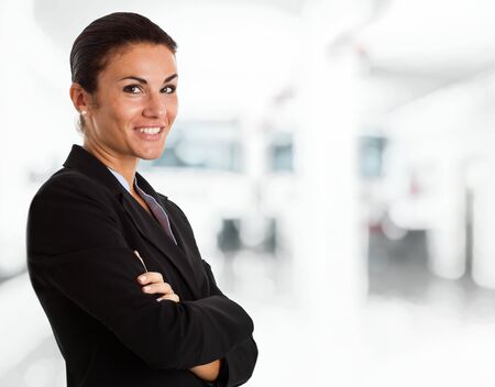 Portrait of a smiling businesswoman Stock Photo - 14748676