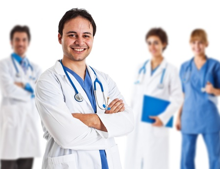 Portrait of a friendly doctor smiling Stock Photo - 14748314