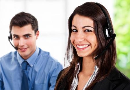 Portrait of friendly customer representatives at work Stock Photo