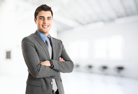Portrait of a smiling handsome businessman Stock Photo - 14748492