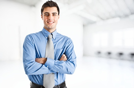 business man: Portrait of an handsome confident business man