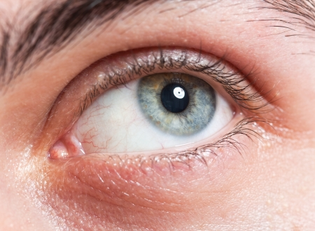 Macro shot of a man's eye Stock Photo - 14748750