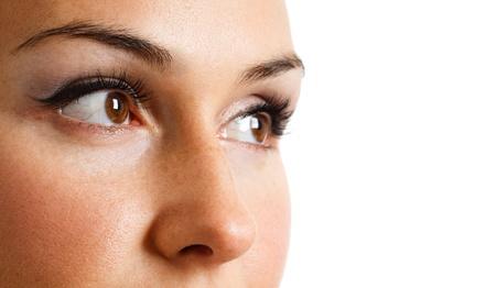 Close-up portrait of a beautiful woman photo