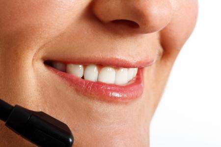 Close-up of a customer representative Stock Photo - 14870421