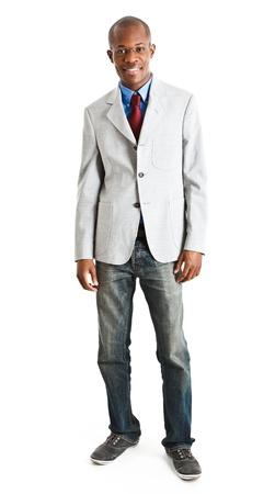 lleno: Retrato de cuerpo entero de un apuesto hombre de negocios Foto de archivo
