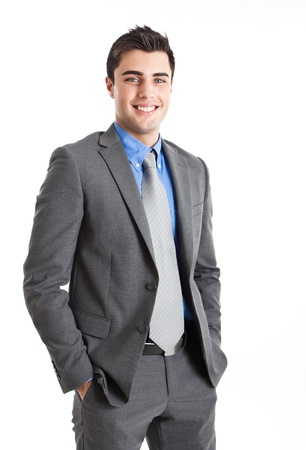 happy businessman: Handsome young man portrait Stock Photo