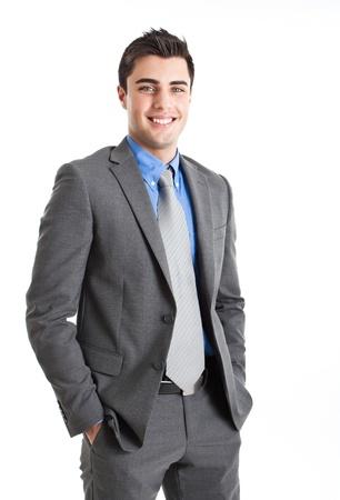 empresario: Hermoso retrato de hombre joven