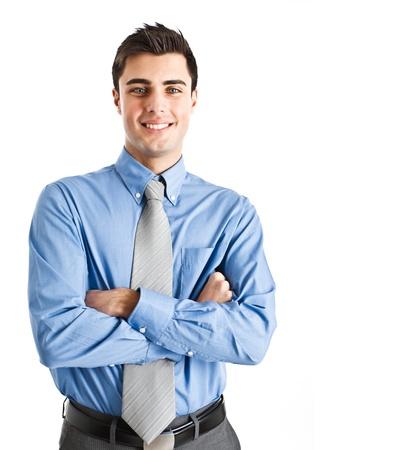 manager: Handsome business man isoliert auf wei�
