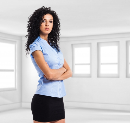 sexy secretary: Portrait of a confident businesswoman