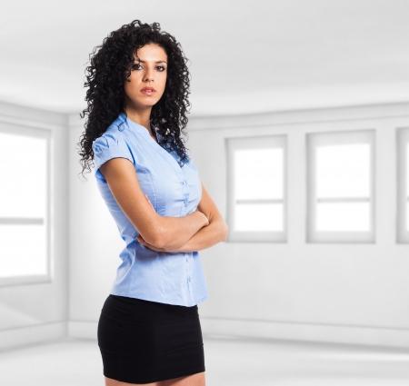 sexy secretary: Retrato de una mujer de negocios confidente Foto de archivo