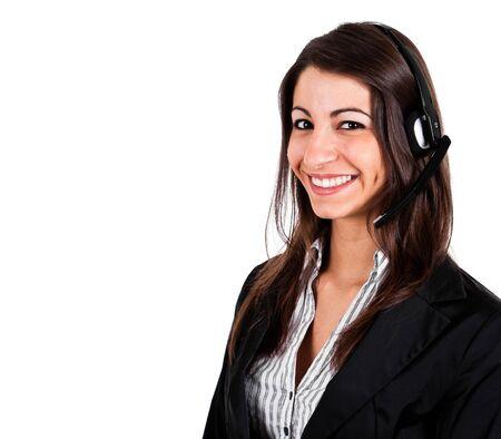 Portrait of a beautiful customer representative at work Stock Photo