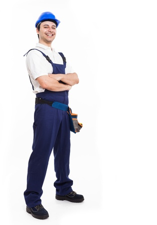 journeyman technician: Portrait of an happy smiling worker Stock Photo