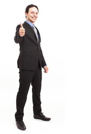 Full length portrait of a friendly businessman Stock Photo - 15271326