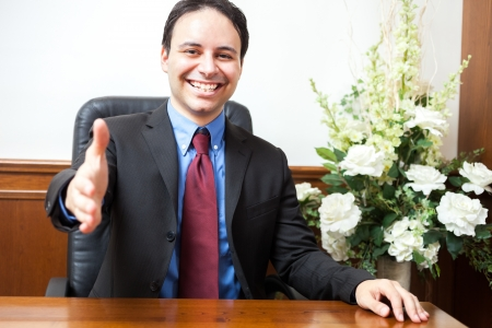Portrait of a smiling man in his studio Stock Photo