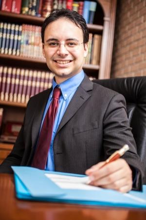 Portrait of a successful businessman in his studio photo