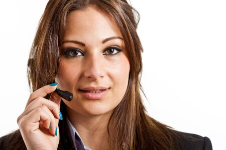 Portrait of a beautiful customer representative Stock Photo - 15271452