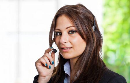 tailleur: Portrait of a beautiful customer representative