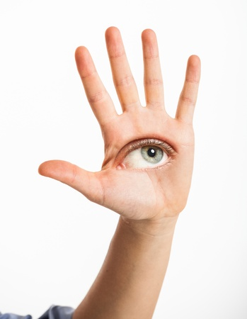 Eye in the hand Stock Photo - 15272735
