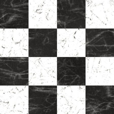 chess board: Black and white marble board  Seamless texture Stock Photo
