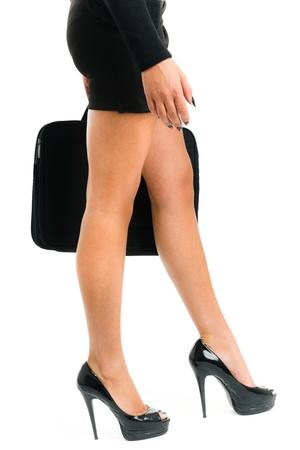 sexy secretary: Mujer de negocios en tacones altos