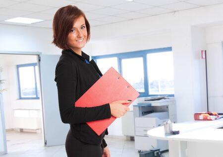 Portrait of a smiling businesswoman photo