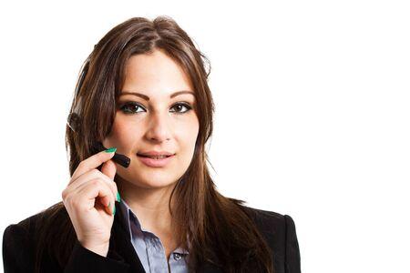 Portrait of a beautiful customer representative Stock Photo - 15264961