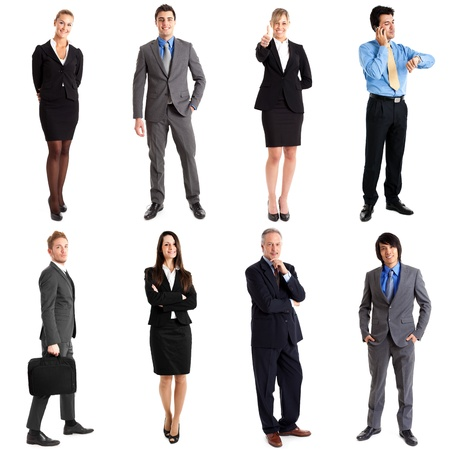 Collection of full length portraits of business people Stock Photo - 15432967