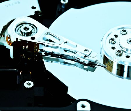 terabyte: Close-up of an hard disk drive