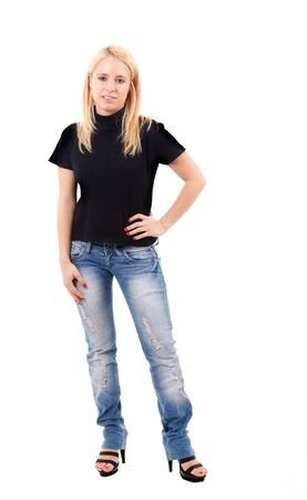 Full length portrait of a beautiful young girl Stock Photo - 15444987