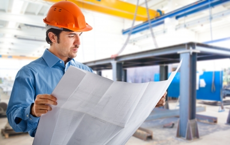 site manager: Portrait of an engineer at work Stock Photo