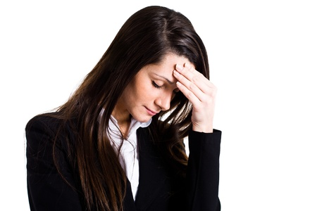 unease: Portrait of a stressed woman Stock Photo