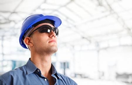 trabajador petrolero: Retrato de un ingeniero guapo Foto de archivo