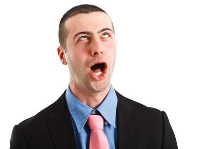 tonto: De negocios que hace una expresión facial divertida