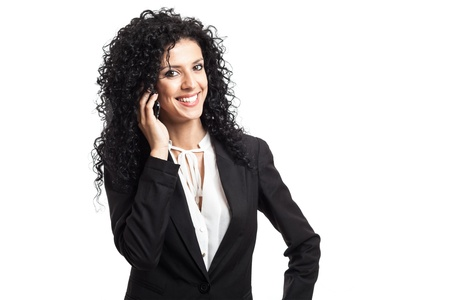 Portrait of a cute businesswoman talking on the phone Stock Photo - 15664957