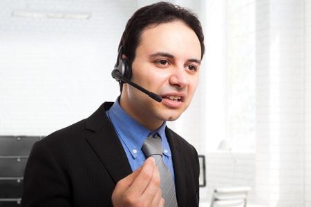 presumptuous: Portrait of an arrogant employee at work