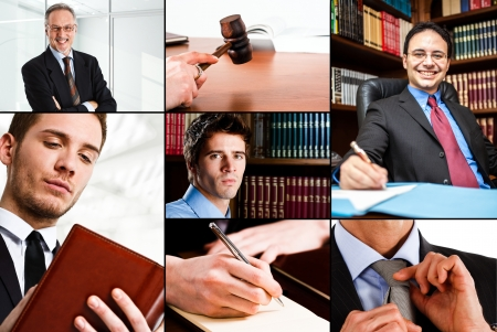 lawyer in court: Composition of people at work