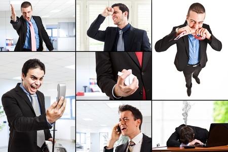 Samenstelling van boze mensen uit het bedrijfsleven