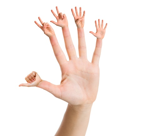 Hand counting one to five Stock Photo - 15966016