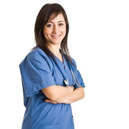 Portrait of a beautiful nurse Stock Photo - 16129531
