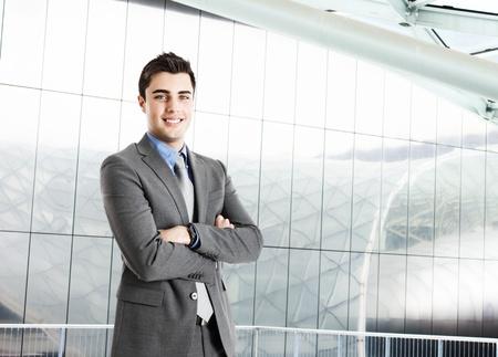 entrepreneur: Portrait of an handsome businessman Stock Photo